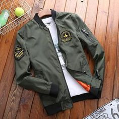 YUNY Mens Casual Loose Warm Zipper Letter Printing Cotton Color Block Jacket