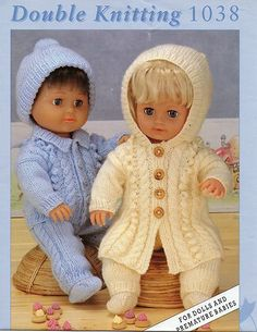 Preemie/doll/reborn clothes knitting pattern 12,16 & 20"