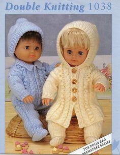 "Preemie/doll/reborn clothes knitting pattern 12,16 & 20"" | eBay  £1.39 + £1 p"