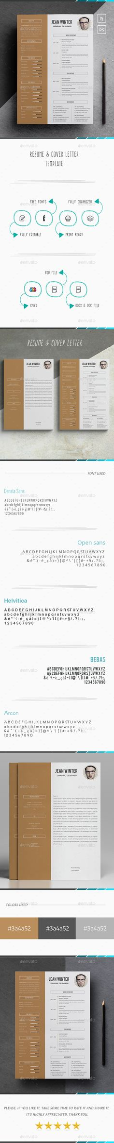 simple Word Resume Stationery template design minimal
