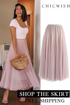 My Secret Weapon Tulle Maxi Skirt Mode Outfits, Skirt Outfits, Chic Outfits, Fashion Outfits, Womens Fashion, Fashion 2018, Fashion Days, Funky Dresses, Simple Dresses
