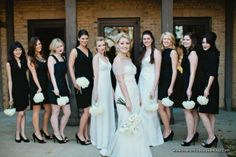 White Bridal and Bridesmaid Bouquets - The French Bouquet - Amanda Watson Photography