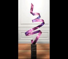 Purple Twist metal sculpture by Jon Allen
