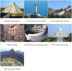 New 7 Wonders Of The World One day you will all be seen by me! :)