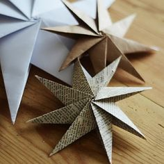 Paper ornament tutorials.
