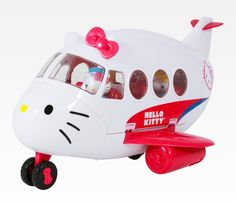 Jamie Moser you need this!! Hello Kitty Playset: Airplane - I want to ride in THIS plane when I fly!