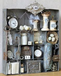 Shadow Boxes - Making Clutter and Keepsakes Into Art.