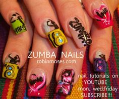 Zumba nails... I had no idea these existed!! How awesome!
