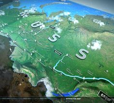 TRANSNEFT INTERACTIVE MAP on Behance