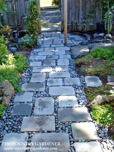 backyard garden paths lead our eye through a garden, and add charm and focus as . - backyard garden paths lead our eye through a garden, and add charm and focus as well. Every garden - River Rock Landscaping, Landscaping With Rocks, Front Yard Landscaping, Backyard Landscaping, Landscaping Ideas, Backyard Ideas, Pergola Patio, Pergola Kits, Sloped Backyard