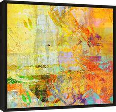"""Quadro Abstrato """"Arena Espanhola""""  de Carlos Alber — Reprodução em alta definição (gicleé) com pigmento mineral sobre canvas premium e acabamento texturizado."""