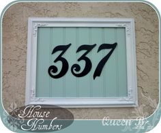 House Address Numbers, House Numbers, Address Signs, Door Numbers, Address Plaque, House Number Plates, Tiered Planter, What House, Porch Decorating