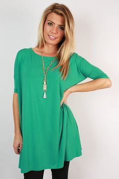PIKO Mini Short Sleeve Tunic in Green