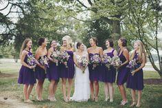 Joe + Beppy - Brooke Courtney Photography / purple + mint wedding inspiration / bridesmaids / bride / flowers / bouquets /