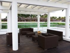 Fused bamboo decking from dasso.XTR at Playa Mita in Mexico