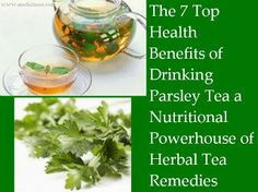 Effects Of Drinking Parsley Tea