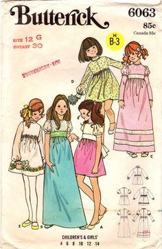 1970s Butterick 6063 Vintage Sewing Pattern by midvalecottage
