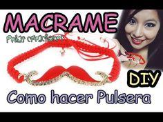 Como hacer una Pulsera con Tejido Macramé : Pekas Creaciones - YouTube