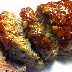Easy Meatloaf-add a tbs worstershire sauce, grill the onions with a clove of garlic, triple the sauce!