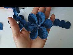 Flor feita com jeans - YouTube