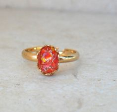 LIMITED Dragon Scales Vintage Ring in Fire by SavannahChristiana, $12.00