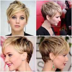 67 Pixie Hairstyles and Haircuts in 2019 - Hairstyles Trends Short Hairstyles 2015, Haircuts For Long Hair, Pixie Hairstyles, Cool Hairstyles, Pixie Haircut For Round Faces, Party Hairstyles, Messy Short Hair, Short Hair Cuts, Messy Pixie