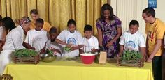 Watch the First Lady cook with @LetsMove students to celebrate the #WHGarden harvest: http://go.wh.gov/ujSjFg