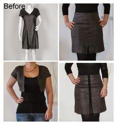 Dress to bolero and skirt http://saga-i-farver.blogspot.dk/2015/01/kjole-til-nederdel-og-bolero.html