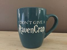 Harry Potter coffee mug - Mature content - I don't give a RavenCrap - hufflepuff - gryffindor - ravenclaw - slytherin - funny Harry Potter