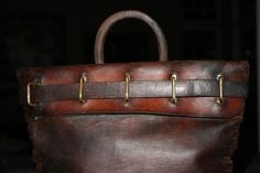 vintage us mail bag | Antique Leather 19th Century Mail Pouch; Vintage Mail Bag w/ brass ...