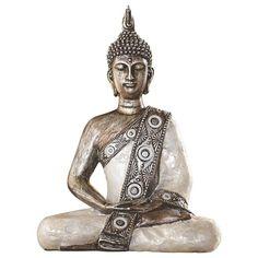 Dieser Buddha ist eine schöne Idee für Ihre asiatische Dekoration. Die königlich geschmückte Figur in Meditationshaltung verströmt Ruhe und innere Gelassenheit. Dabei ist sie dank des traditionellen Designs ein Blickfang.