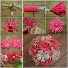DIY Chocolates Gerbera Flower Bouquet #DIY #craft #flower