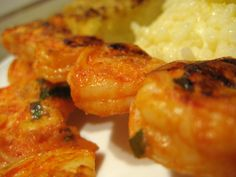 Marinated grilled shirmp