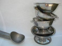 Little Ice Cream Parlor Sundae Dishes 4 by AntoinettesWhims, $10.00