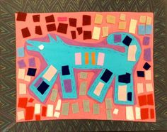 Panther's Palette: Felt Collage