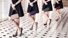 """Tod's Women's Autumn Winter 2013-2014 Collection. Petite Signature shoulder #bags in #calfskin, patent leather and patent leather with """"under glass"""" finish; pointilli calf hair ballet pumps; wrap around bracelets with metal detail."""