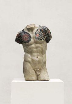 Les statues tatouées de Fabio Vialle | Ufunk.net