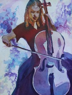 cello « Art in the Making by Jenny Armitage