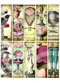Touched by Whimsy ephemera bookmarks by Debrina Pratt