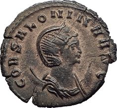 SALONINA Gallienus Wife 267AD Rome Authentic Ancient Roman Coin Goat Stag i64674