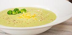 Toasted Almond & Broccoli Soup Recipe – Blendtec Broccoli Soup Recipes, Toasted Almonds, Hummus, Fruit, Ethnic Recipes, Food, Broccoli Soup, Brocoli Soup, Meals