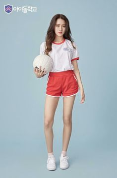 School Fashion, Girl Fashion, Fashion Poses, Fashion Outfits, Look Con Short, Standing Poses, Model Outfits, Beautiful Asian Girls, Girl Clothing
