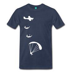 Spreadshirt-Fallschirm-Sprung-Herren-T-Shirt