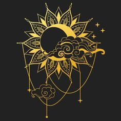 123RF - Millions of Creative Stock Photos, Vectors, Videos and Music Files For Your Inspiration and Projects. Sun Tattoos, Tattoos Skull, Body Art Tattoos, Tribal Tattoos, Sun And Moon Drawings, Sun Drawing, Art Soleil, Art Hippie, Sun Moon Stars