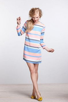 Striped Boatneck Mini Dress | Anthropologie