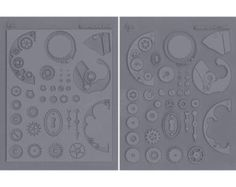Steampunk - Innie & Outtie Lisa Pavelka Stamp Set - Texture Mold Set, 2/Pkg - 270252