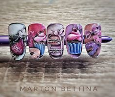 "167 Likes, 1 Comments - Bettina Marton (@mbettinanails) on Instagram: ""Sweety #donut #cupcake #nail #nailart #nailfashion #naildesign #nails #strawberry #macaron #ribbon…"""