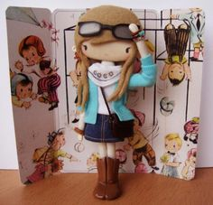 Broches-muñeca de Sago. WOW!!