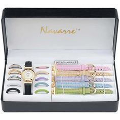 Navarre Ladies Watch with Interchangeable Bands and Faces * Review more details here (This is an amazon affiliate link. I may earn commission from it)