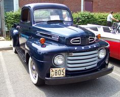 1950 Ford F1 Pickup--Blue